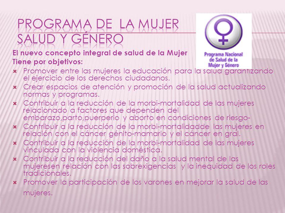 PROGRAMA DE LA MUJER SALUD Y GÉNERO