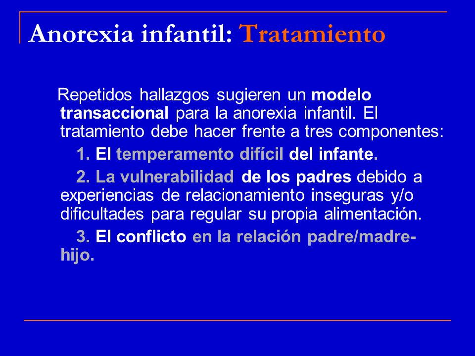 Anorexia infantil: Tratamiento