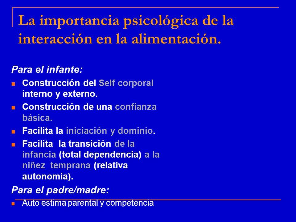 La importancia psicológica de la interacción en la alimentación.
