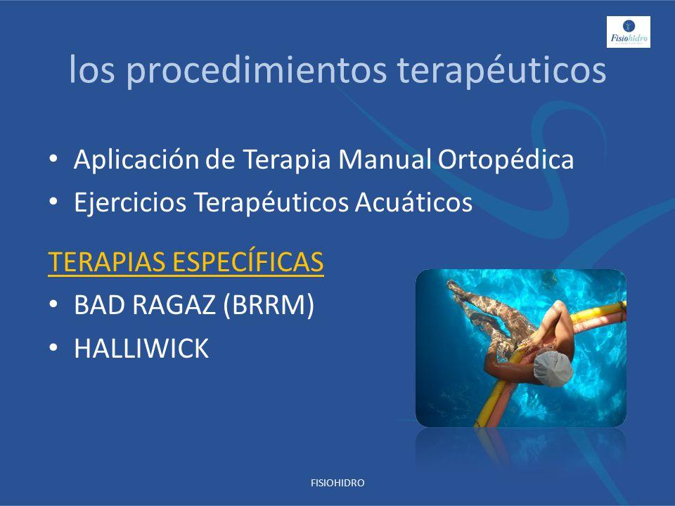 los procedimientos terapéuticos