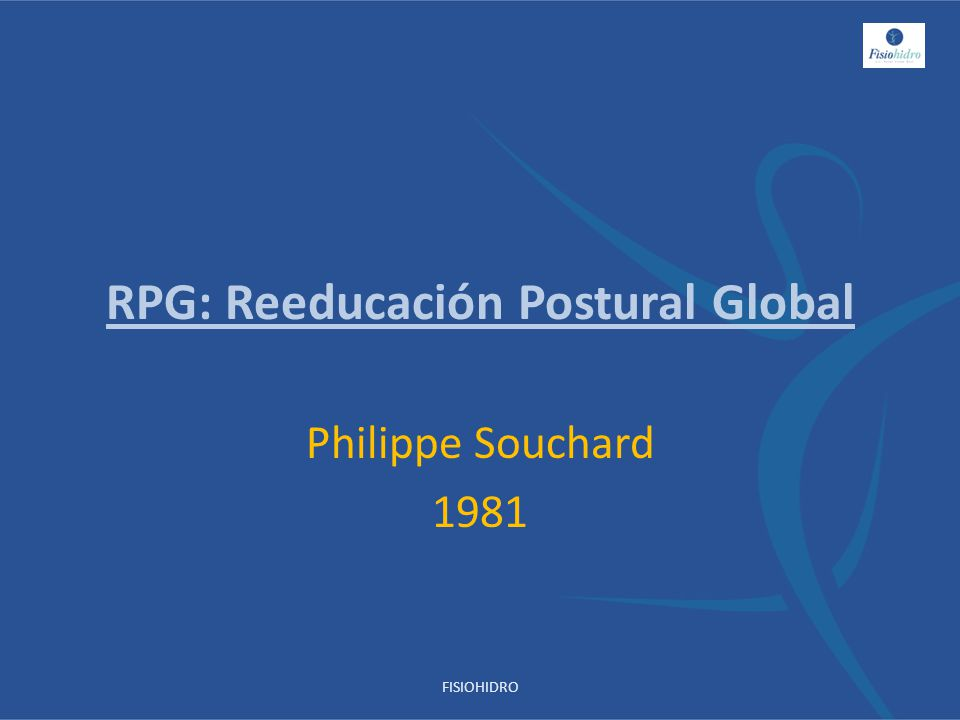 RPG: Reeducación Postural Global