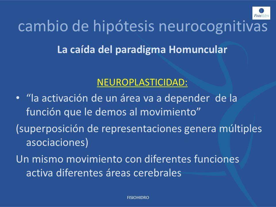 cambio de hipótesis neurocognitivas