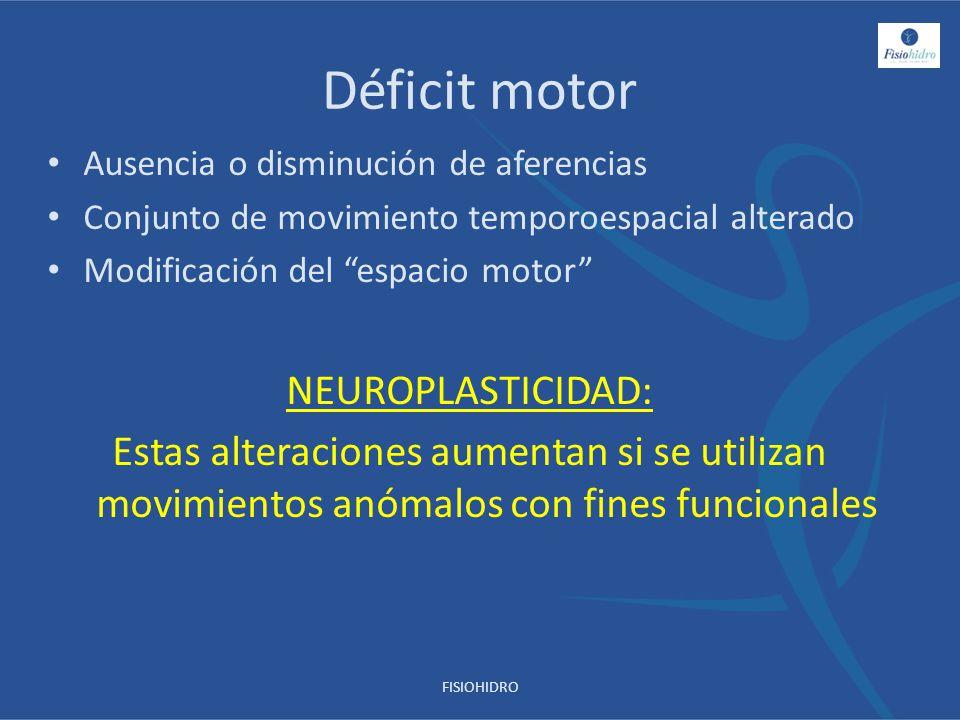 Déficit motor NEUROPLASTICIDAD:
