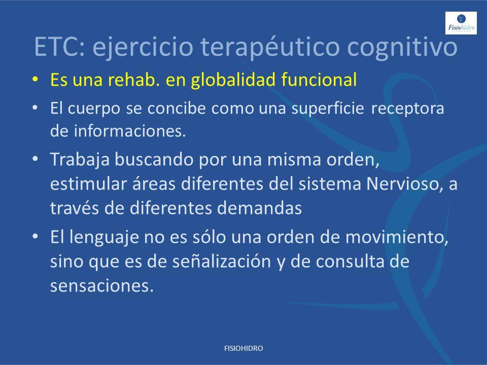 ETC: ejercicio terapéutico cognitivo