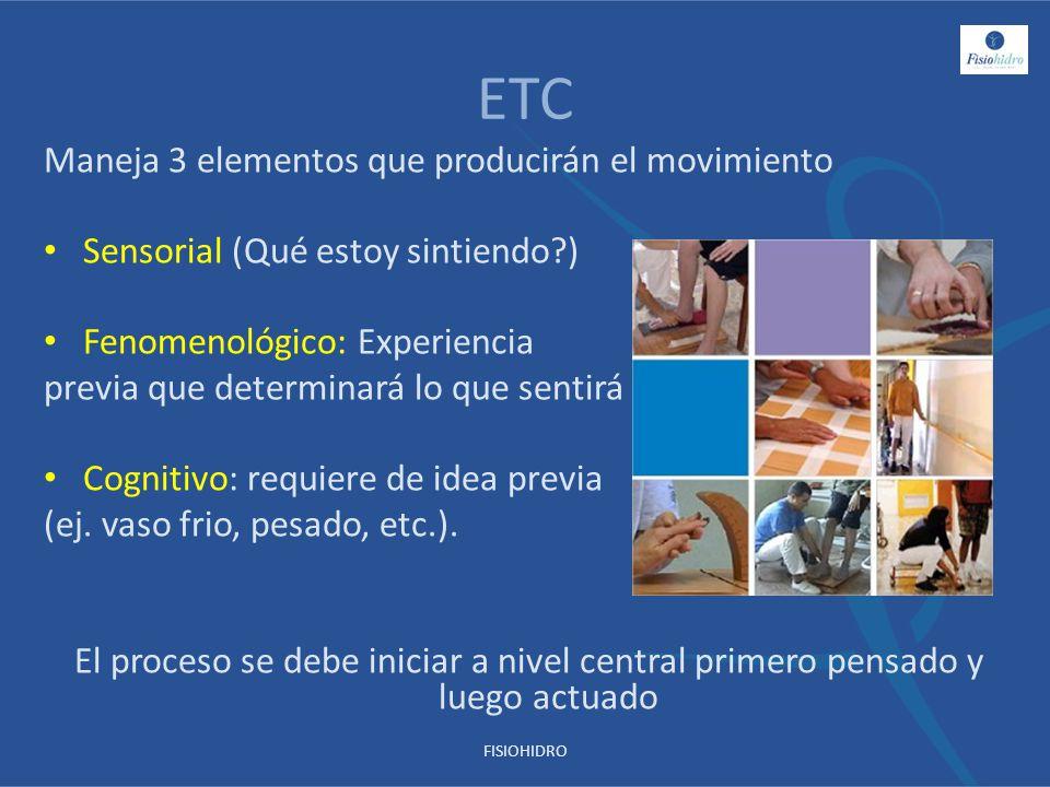 ETC Maneja 3 elementos que producirán el movimiento
