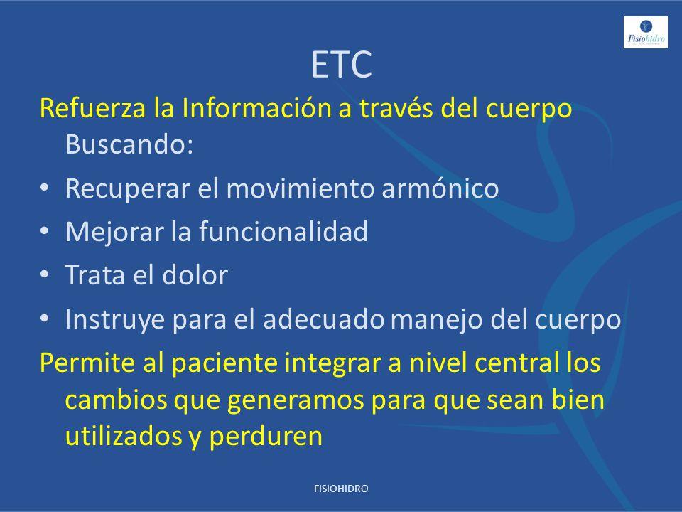 ETC Refuerza la Información a través del cuerpo Buscando: