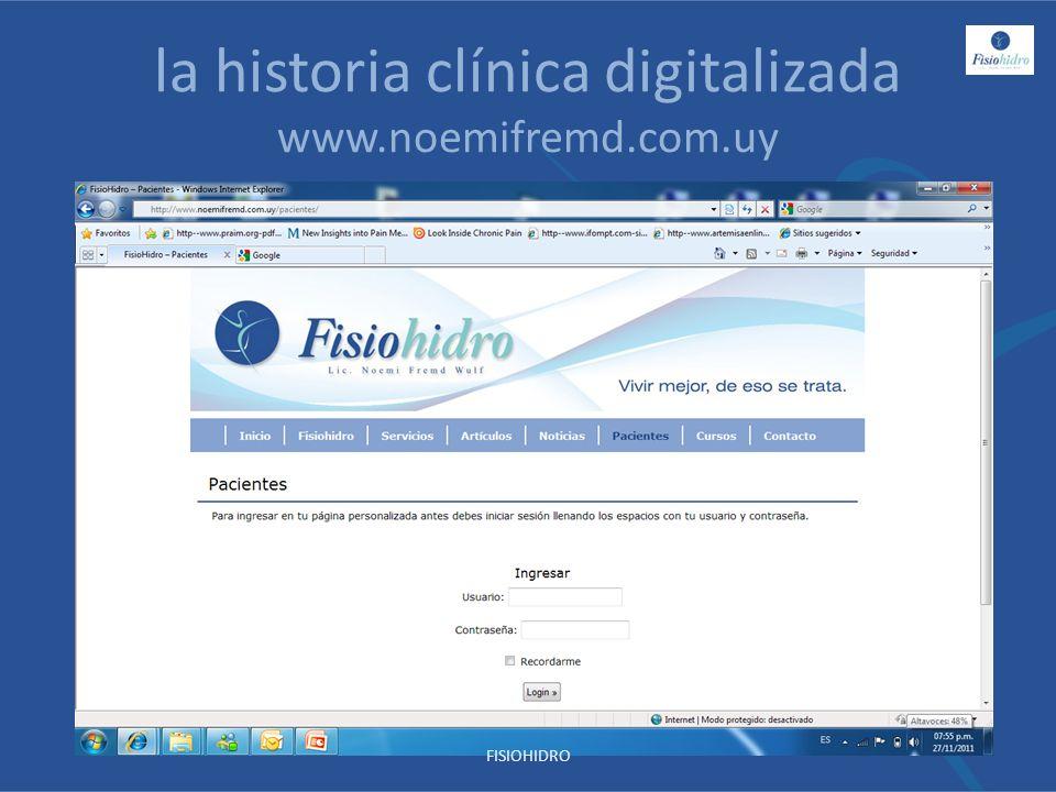 la historia clínica digitalizada www.noemifremd.com.uy