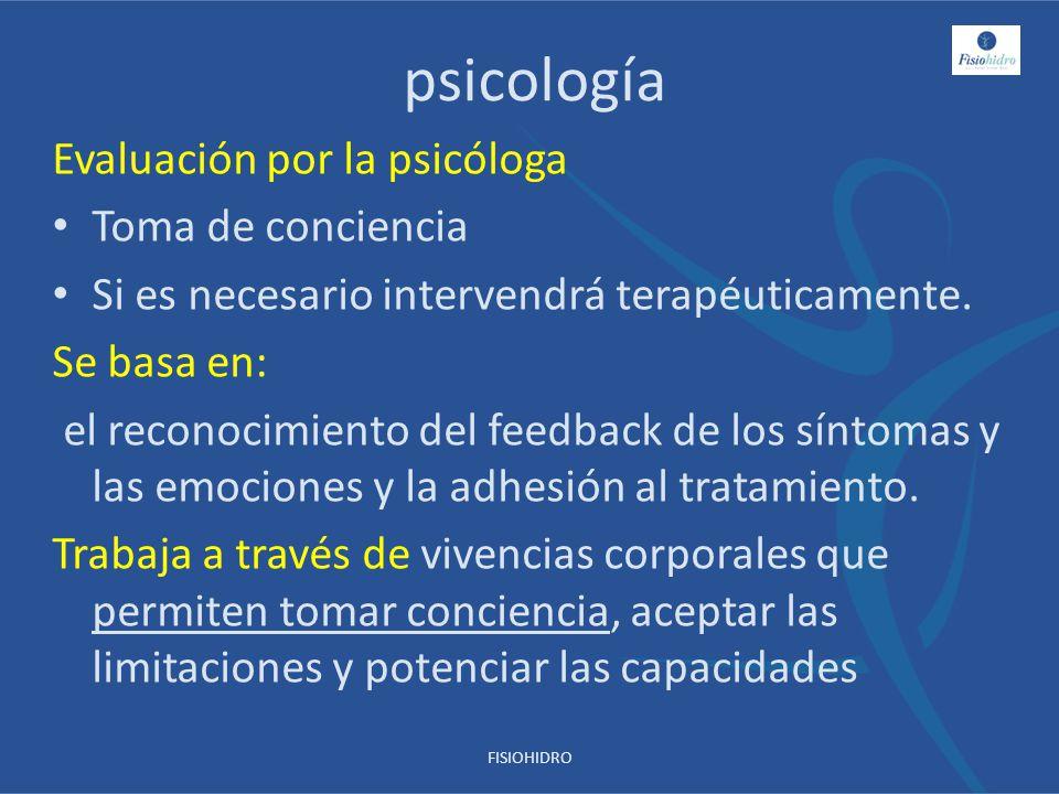 psicología Evaluación por la psicóloga Toma de conciencia