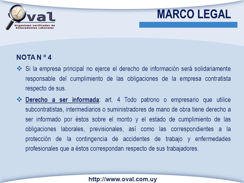 MARCO LEGAL NOTA N º 4.