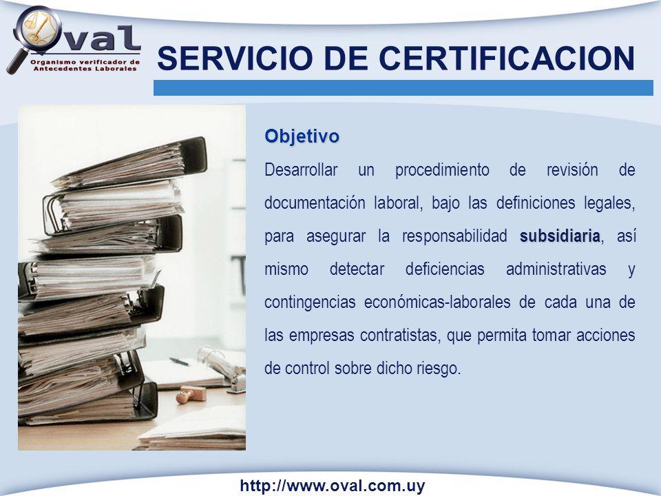 SERVICIO DE CERTIFICACION