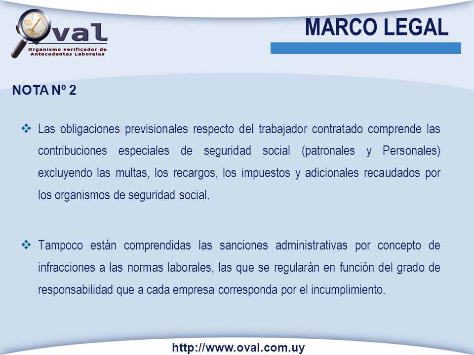 MARCO LEGAL NOTA Nº 2.