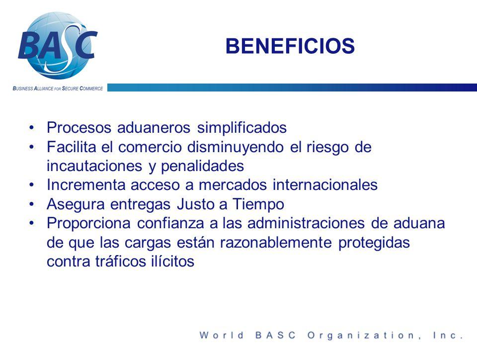BENEFICIOS Procesos aduaneros simplificados