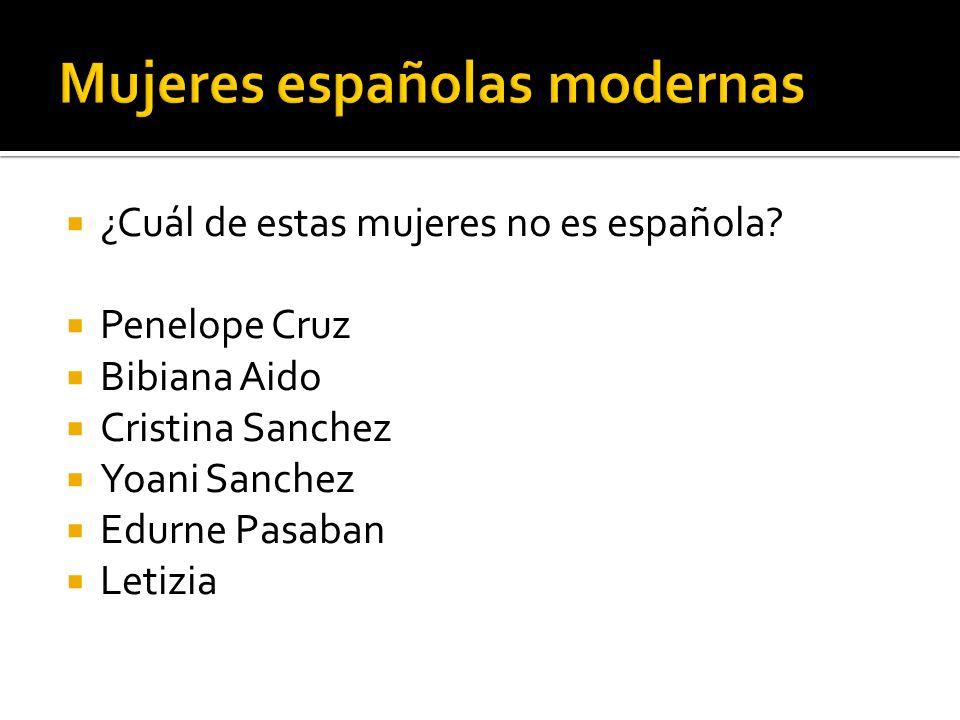 Mujeres españolas modernas