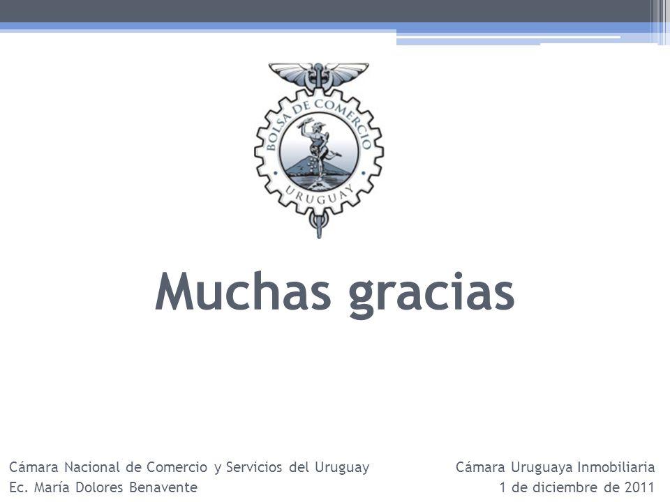 Muchas gracias Cámara Nacional de Comercio y Servicios del Uruguay