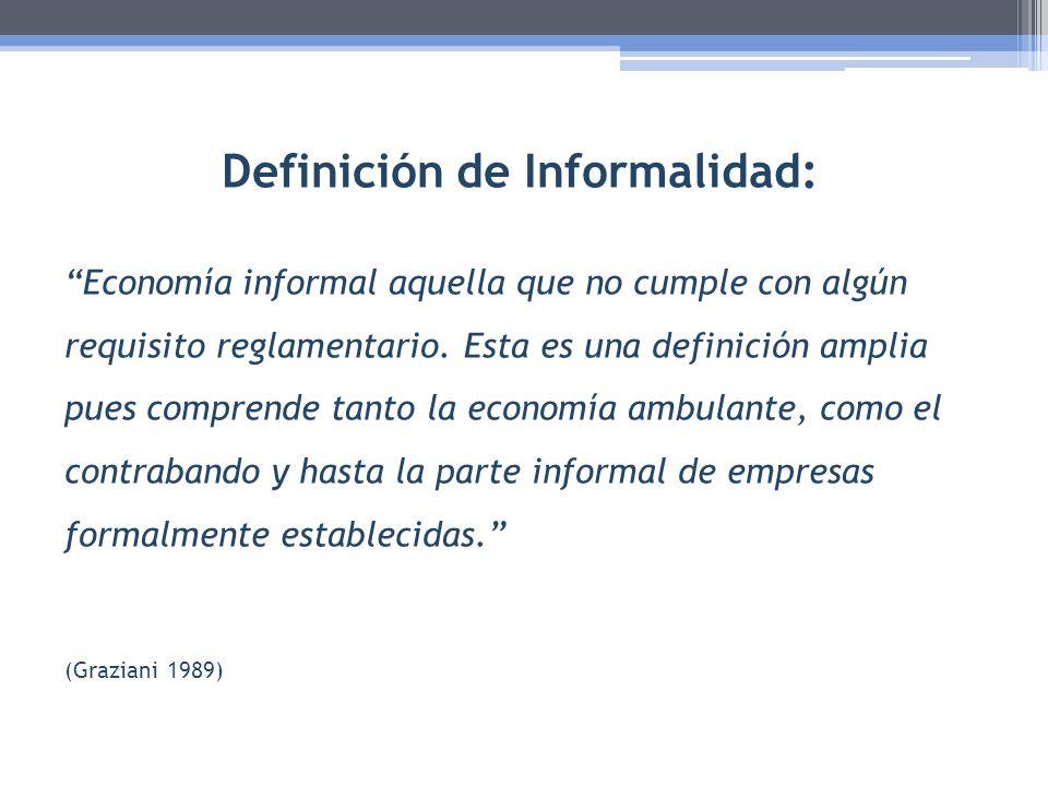 Definición de Informalidad: