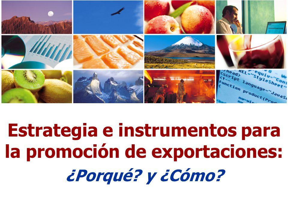 Estrategia e instrumentos para la promoción de exportaciones: