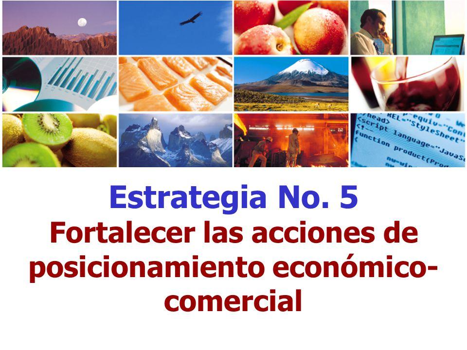 Fortalecer las acciones de posicionamiento económico-comercial