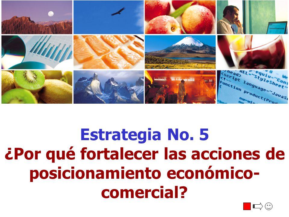 Estrategia No. 5 ¿Por qué fortalecer las acciones de posicionamiento económico-comercial