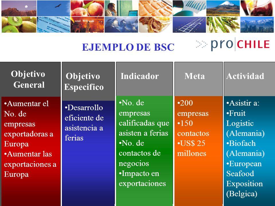 Ejemplo de BSC EJEMPLO DE BSC Objetivo General Objetivo Especifico