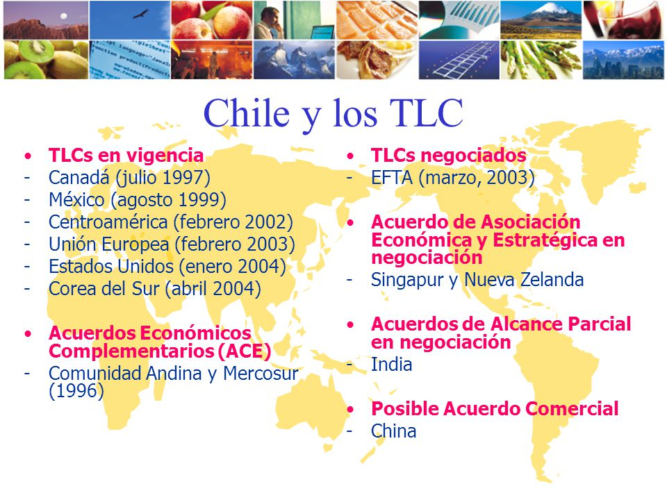 Chile y los TLC TLCs en vigencia Canadá (julio 1997)