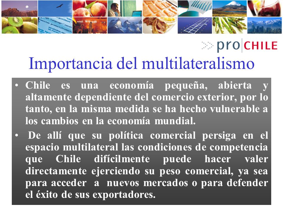 Importancia del multilateralismo