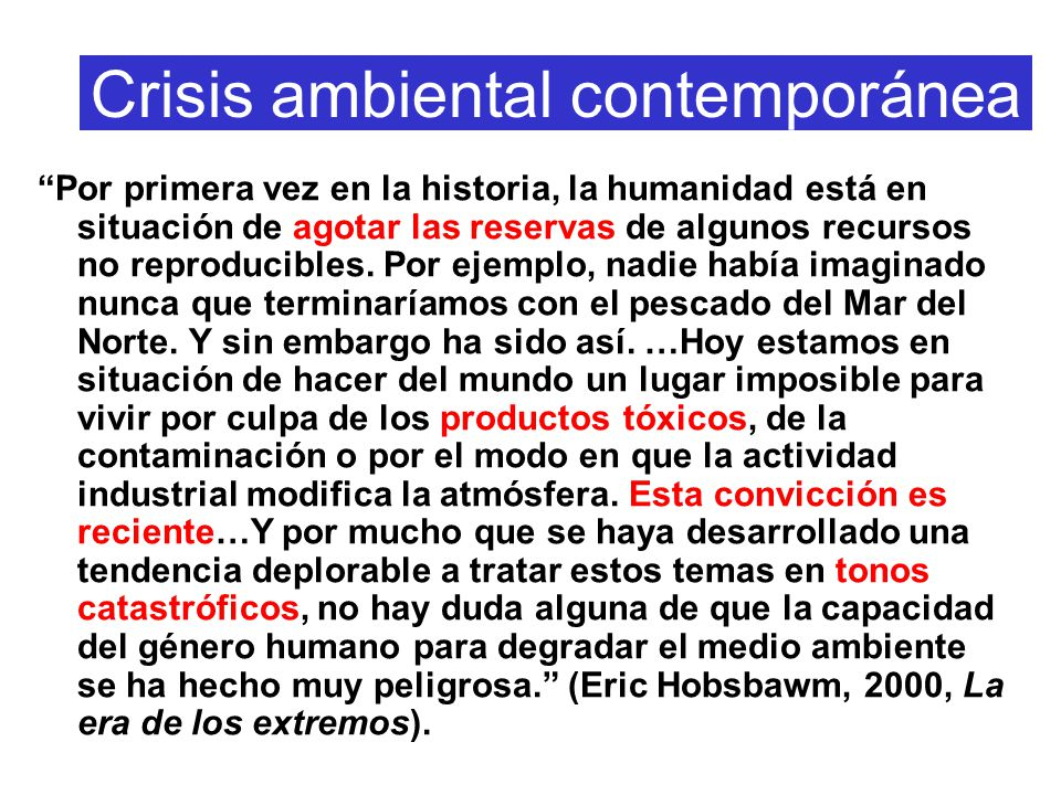 Crisis ambiental contemporánea