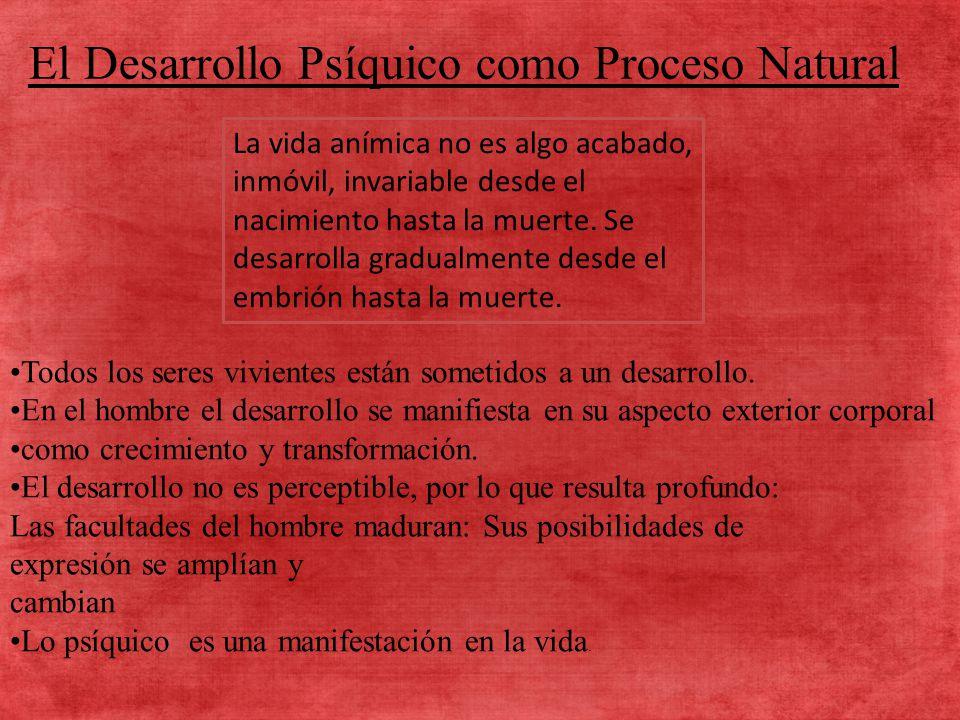 El Desarrollo Psíquico como Proceso Natural