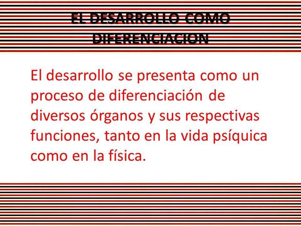 EL DESARROLLO COMO DIFERENCIACION