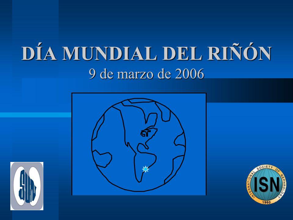 DÍA MUNDIAL DEL RIÑÓN 9 de marzo de 2006