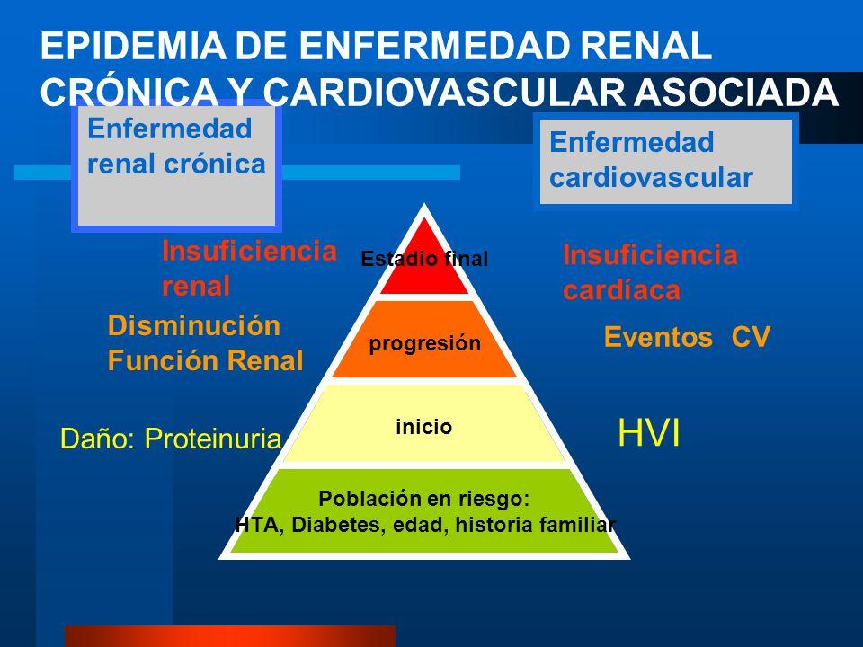 EPIDEMIA DE ENFERMEDAD RENAL CRÓNICA Y CARDIOVASCULAR ASOCIADA