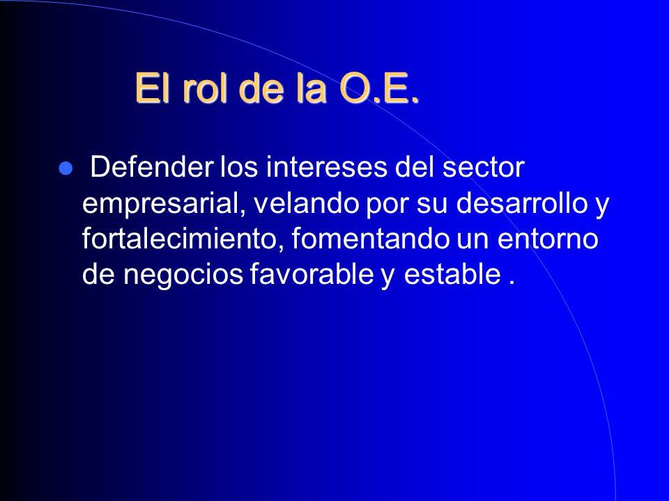 El rol de la O.E.