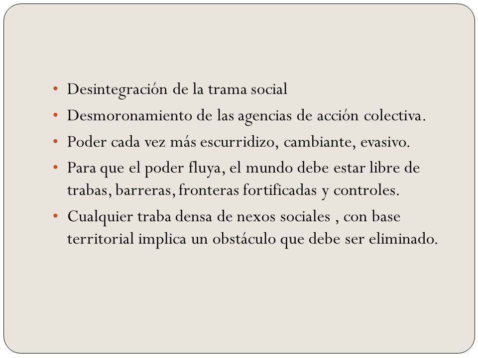 Desintegración de la trama social