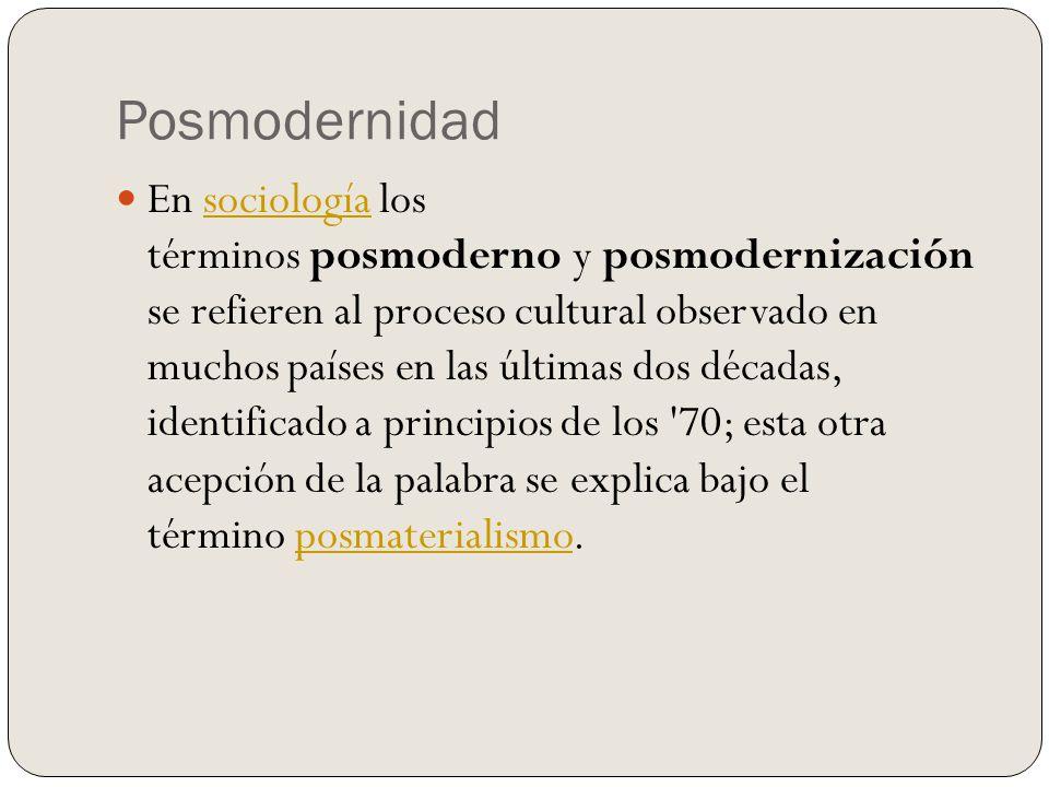 Posmodernidad