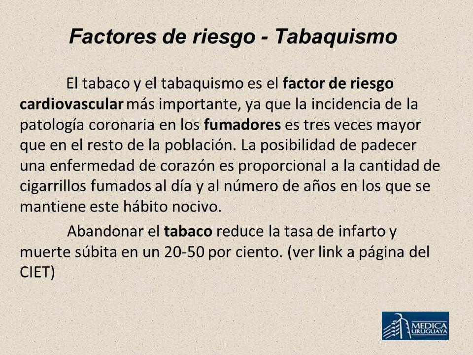 Factores de riesgo - Tabaquismo