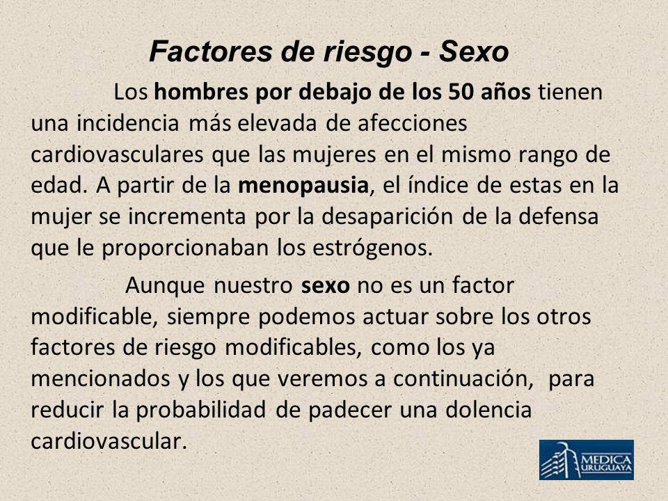 Factores de riesgo - Sexo