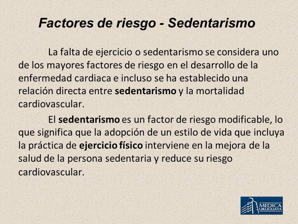 Factores de riesgo - Sedentarismo