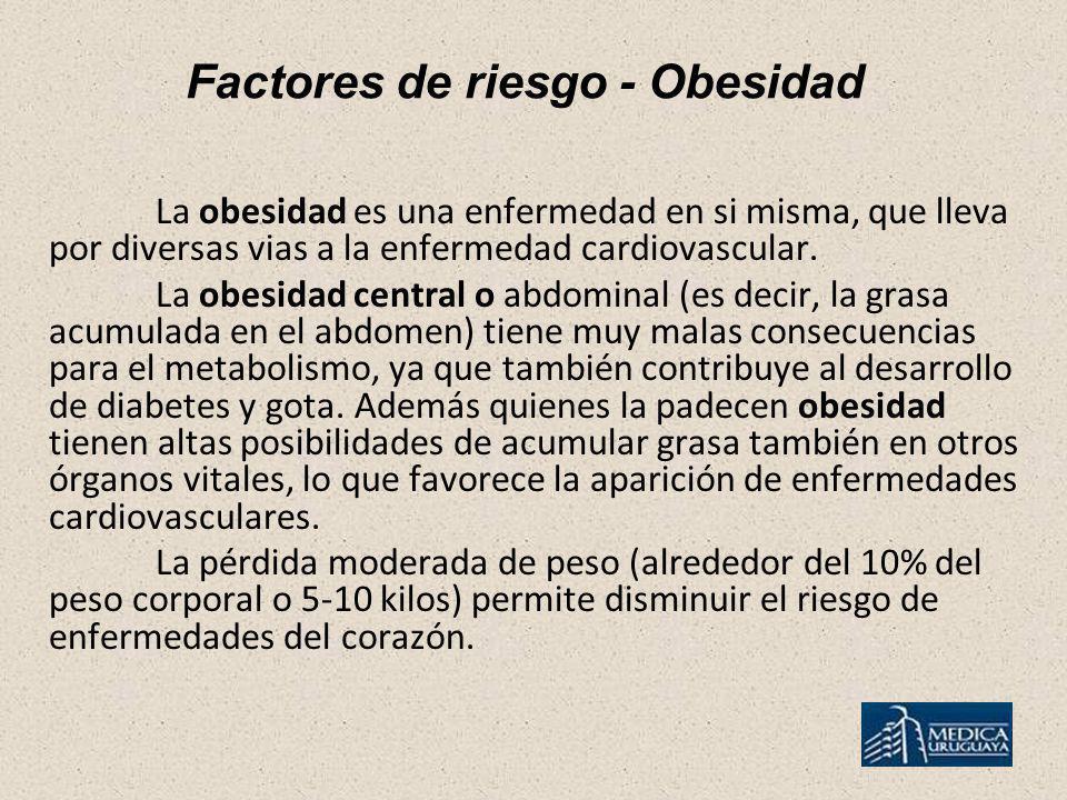 Factores de riesgo - Obesidad