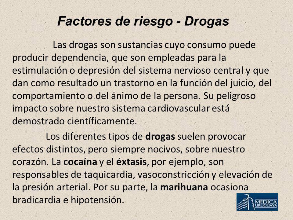 Factores de riesgo - Drogas