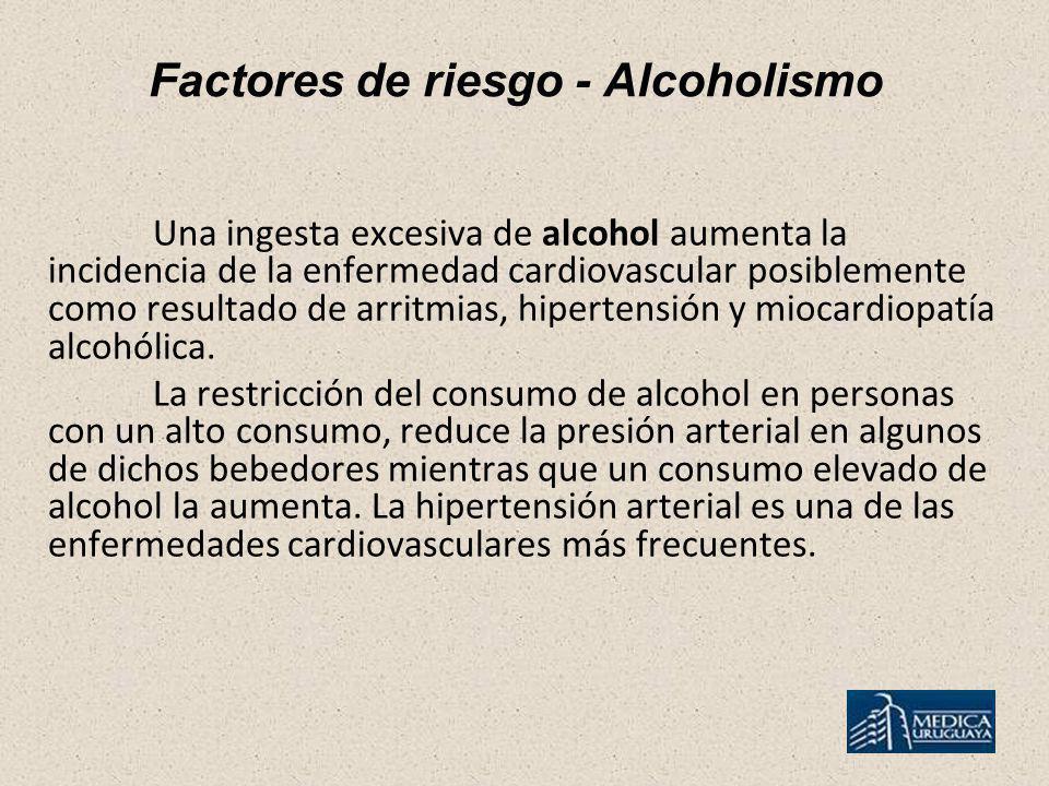Factores de riesgo - Alcoholismo