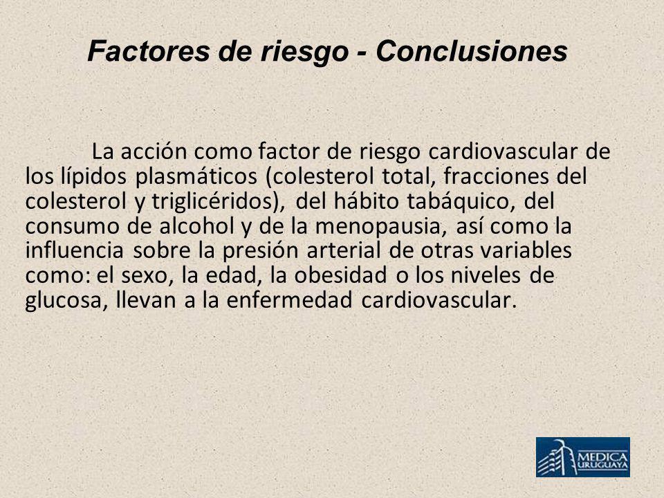 Factores de riesgo - Conclusiones