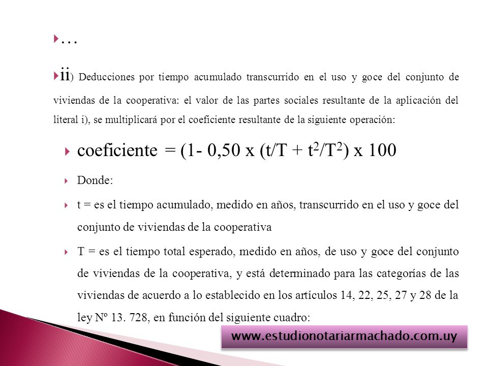 coeficiente = (1- 0,50 x (t/T + t2/T2) x 100