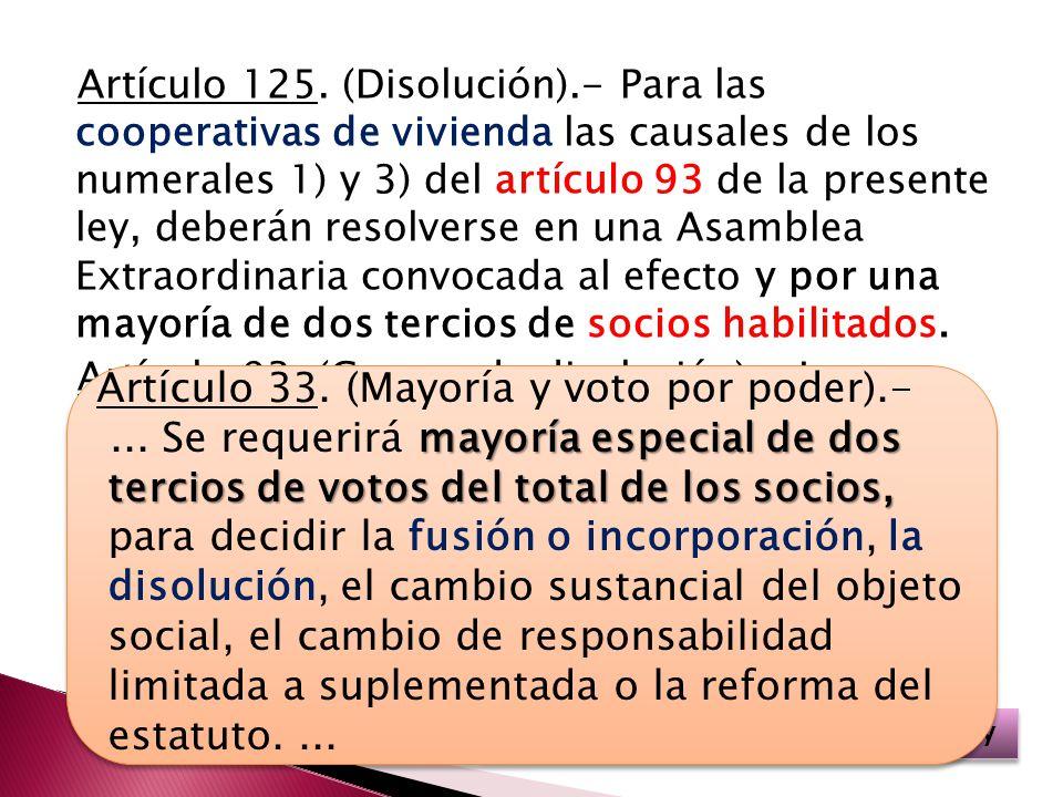 Artículo 33. (Mayoría y voto por poder).-