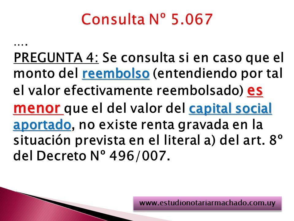 Consulta Nº 5.067 ….