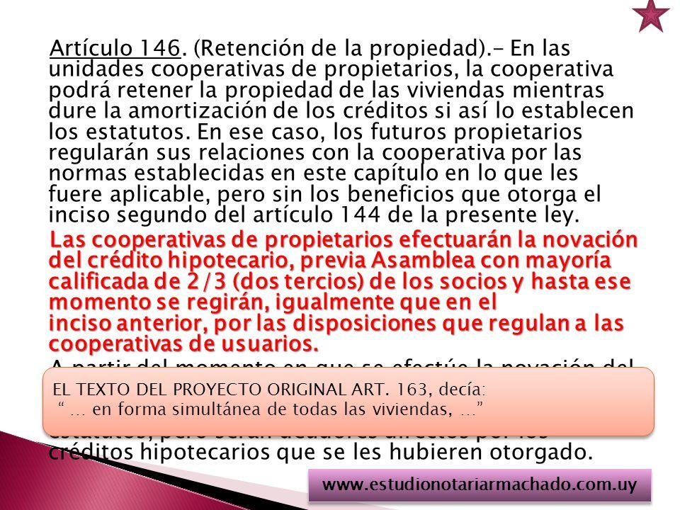 Artículo 146. (Retención de la propiedad)