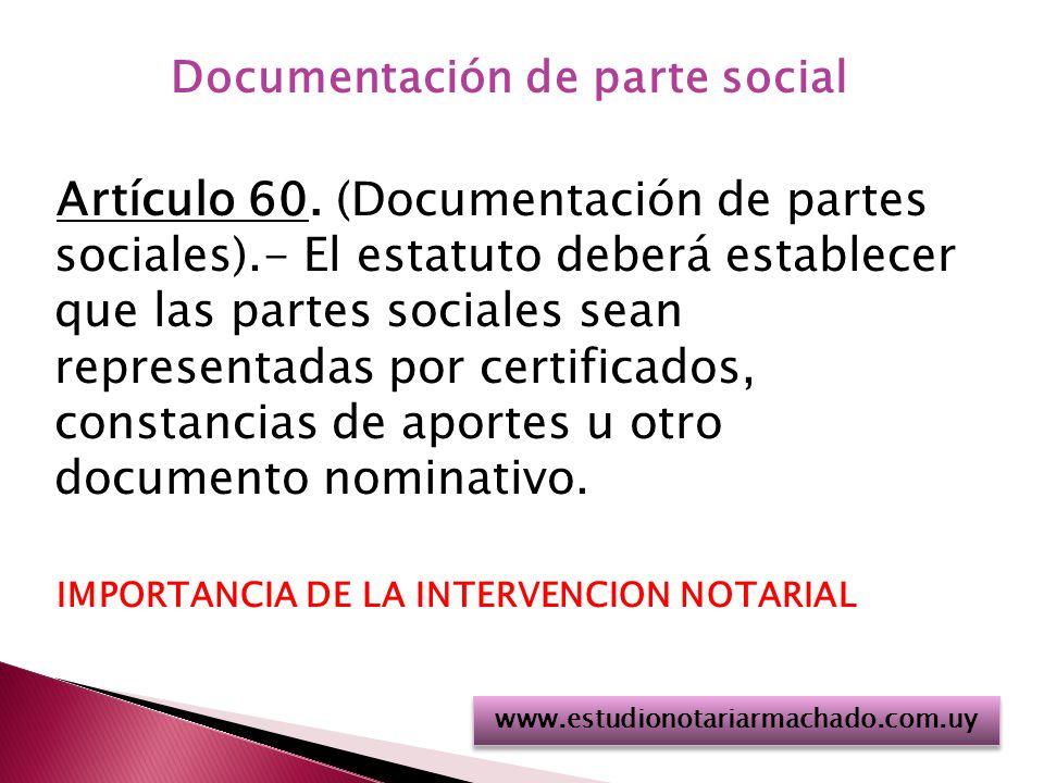 Documentación de parte social