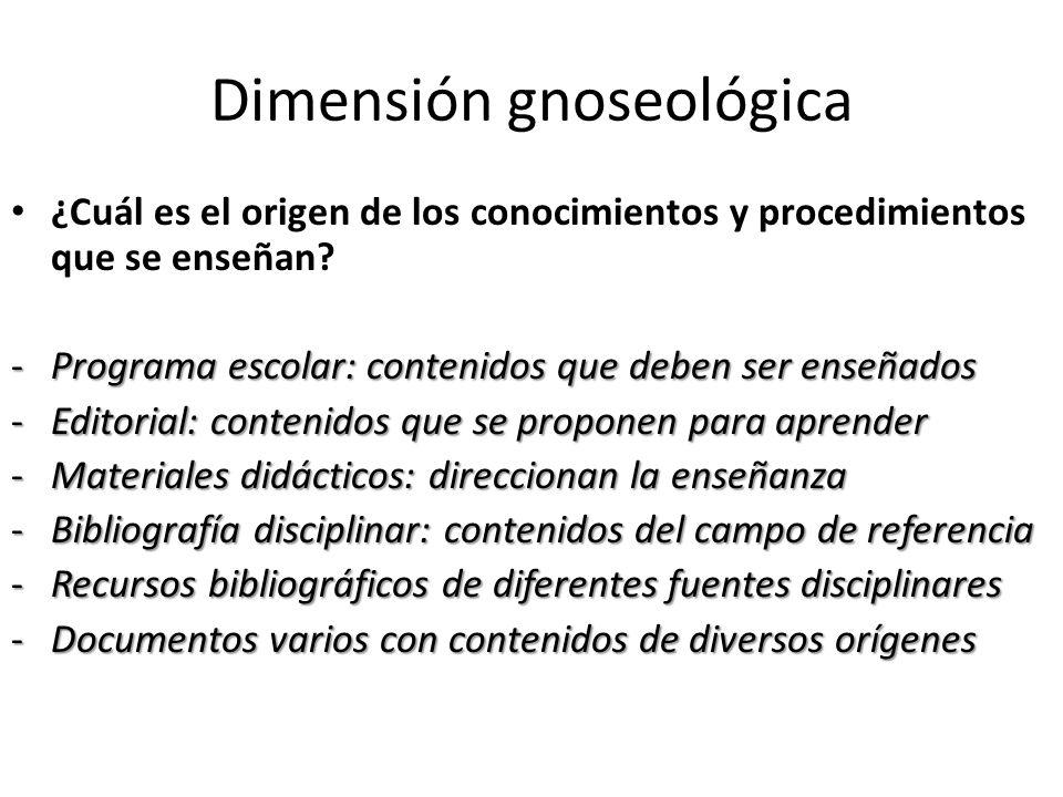 Dimensión gnoseológica