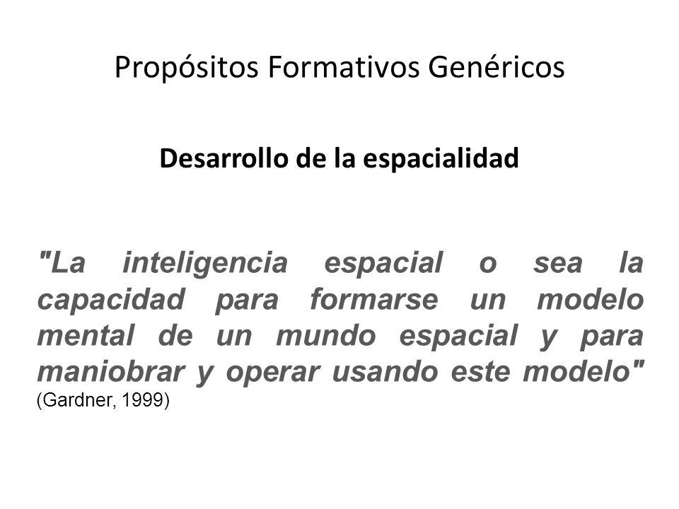 Propósitos Formativos Genéricos