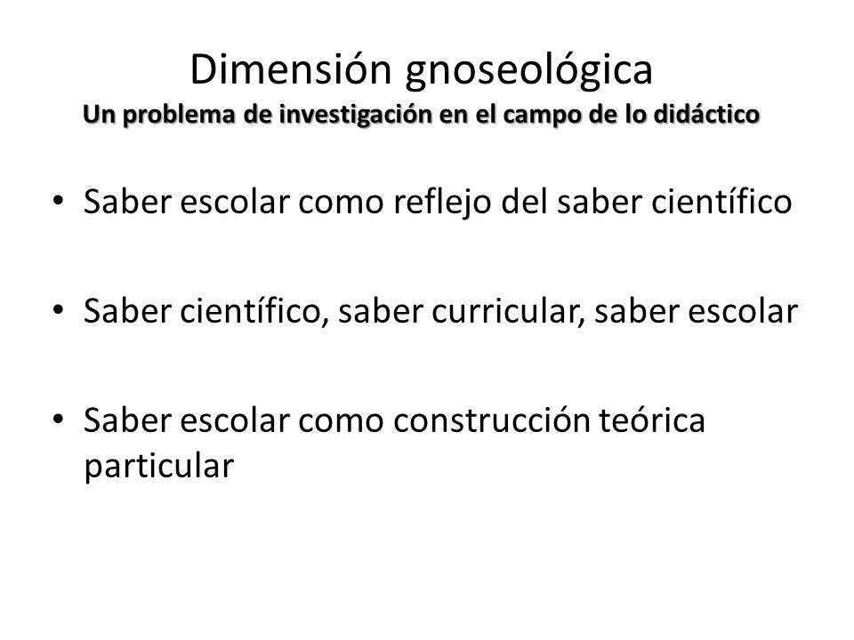 Dimensión gnoseológica Un problema de investigación en el campo de lo didáctico
