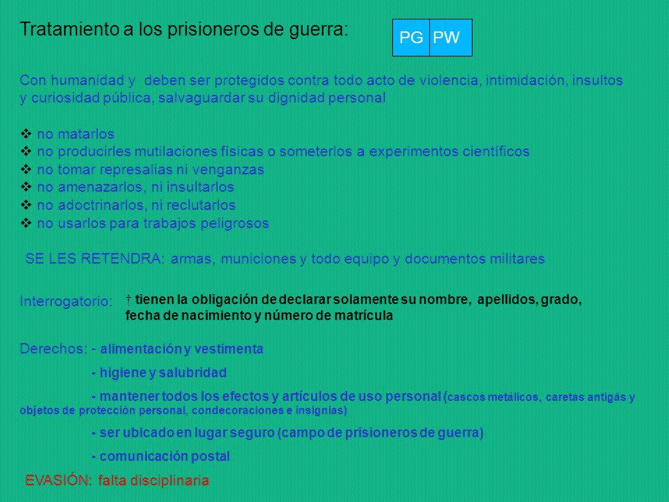 Tratamiento a los prisioneros de guerra: