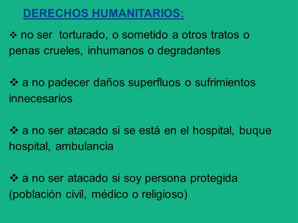DERECHOS HUMANITARIOS: